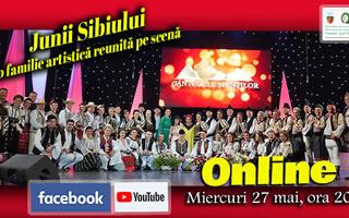 Junii Sibiului - o familie artistică reunită pe scenă la Festivalul Internațional de Folclor ,,Cântecele Munților'', Sibiu 2019