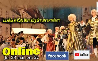 Primul spectacol de teatru muzical coregrafic marca Junii Sibiului  difuzat online, pe Facebook și pe Youtube