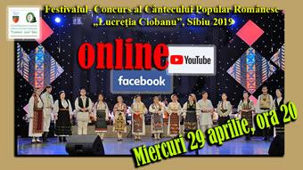 """Momente de excepție din cadrul ediției 2019 a Festivalului """"Lucreția Ciobanu"""" transmise online în perioada 29 aprilie-15 mai 2020"""
